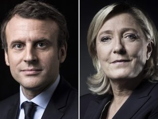 French presidential election candidates Emmanuel Macron and Marine Le Pen.
